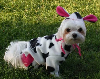 Dog Costume, Halloween costume for Small Dog, Halloween party Costume for dog, Pet Costume,  Animal Costume, Cow