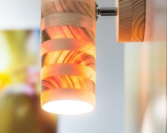 Ananas spot light, wooden light, wood lamp, spot light, wooden lampshade