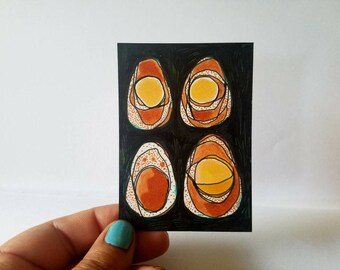 Brown Eggs - aceo drawing