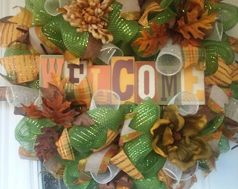 Fall Wreath, Front Door Wreaths, Fall Decor, Door Decoration, Thanksgiving Wreath, Autumn Wreath, Autumn Decor, Fall