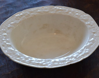 1930's Crown Ducal Florentine Ironstone Serving Bowl
