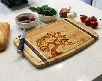Personalized Cutting Board, Custom Cutting Board, Engraved Cutting Board,Monogrammed Cutting Board,Custom Wedding Gift --CB-BAMM-Mark Taylor