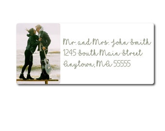 Photo Address Label, Custom Picture Address Label, Personalized Address Label, Address Label Sticker, Return Address Label, Return Address
