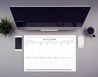 Desk pad to do weekly schedule