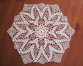 Nouveau Vintage-chic fait main en coton tissu napperon au Crochet