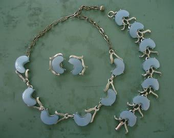Blue Thermoset Jewelry Set
