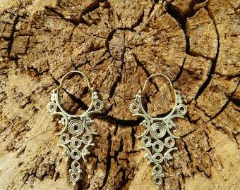 Ethnic Indian Brass Earrings
