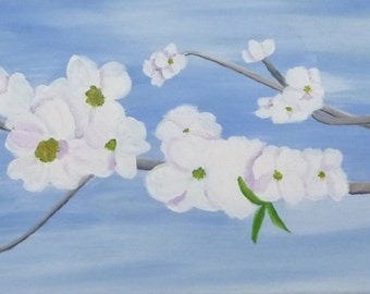 Dogwood, acrylic painting by Sharon James