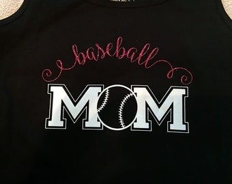 BASEBALL MOM tank- Black Baseball tank
