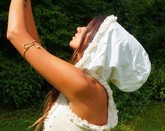 White SteamPunk Pixie Vest / Waistcoat