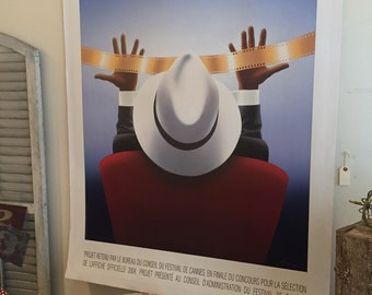 Large Original Cannes Poster