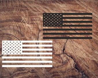 American Flag Decal, American Flag, Flag Vinyl Decal, USA Flag, Car Window Decal, Laptop Sticker, Yeti Decal, Tumbler Decal, Macbook Decals