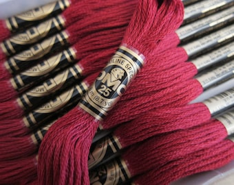 DMC 816, Garnet, DMC Cotton Embroidery Floss - 8m Skeins - Full (12-skein) Boxes - Get Up To 50% OFF, see Description