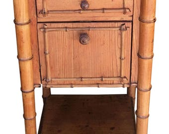 Antique French Paris Apartment Nightstand Table