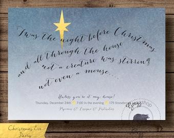 The night before Christmas Invitation
