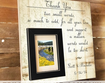 Parents Thank You Gift, Wedding Frame, Parents Gift, Thank you Gift, Parents of the Bride, In-Laws Gift, Personalized Frame, Grooms Parents