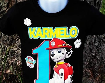 Marshall T-shirt Black Paw Patrol