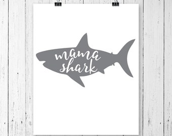 INSTANT DOWNLOAD! SVG, Mama Shark, Clipart, Svg, Dxf, Pdf, Cricut Cut Files, Silhouette Cut Files, Commercial Use!