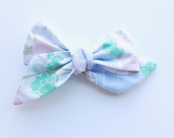 Oversized Pastel Pinwheel Hair Bow Accessory