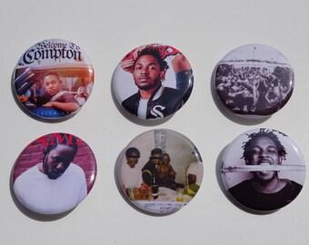 "1.25"" Kendrick Lamar Pinback Pack Pins Buttons Badges"