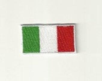 Tiny Italian Flag Patch! Custom Made! F24