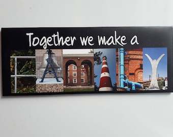 FAMILY Fridge magnet 18cm x 7cm. Beautiful statement to any fridge. Can be personalised.