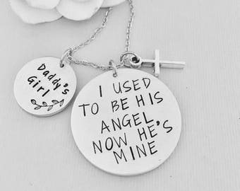 Sympathy Gift, I Used To Be His Angel, Daughter Gift, Dad Necklace, Memorial Gift, Loss Of Dad, Loss Of Father, Bereavement Gift, Father