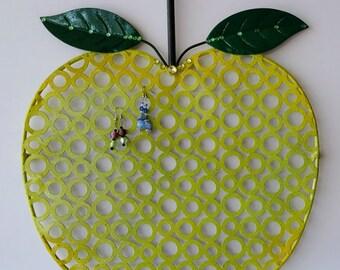 Retro earring organizer, Apple earring holder, Jewelry organizer, Jewelry holder, Earring hanger, Earring holder wall, Wall jewelry display