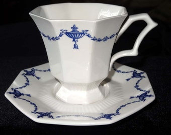 Tea Cup with Saucer Independence Ironstone Castleton Japan Home and Garden Kitchen and Dining Tableware Drinkware Coffee and Tea Cups