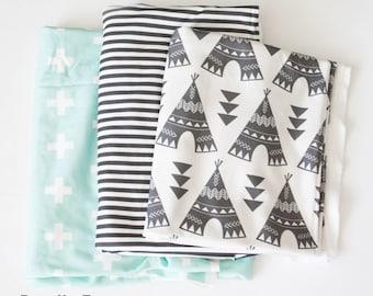 Fabric Large Scrap Bundle Sale - High Quality Organic Knit - 6 Different Bundles