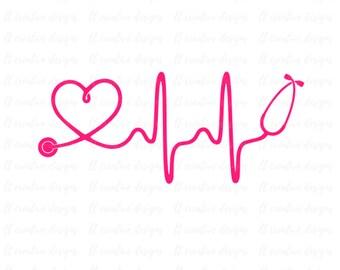 Heartbeat Line Art : Heartbeat etsy