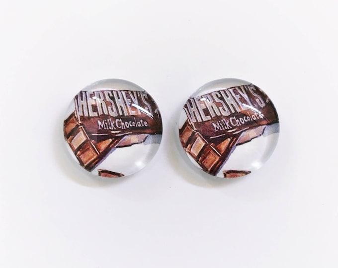 The 'Hershey's' Glass Earring Studs
