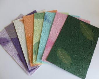 Handmade skeleton leaf paper/collage/scrapbooking/mixed media/journalling
