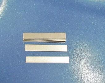 1/4 x 2 - Aluminum rectangles - 24g - hand stamping blanks -metal blanks - rings blanks