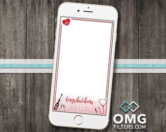 Nursing School Graduation RN BSN Custom Snapchat Geofilter