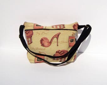Shoes Tapestry Medium Purse with Black Strap