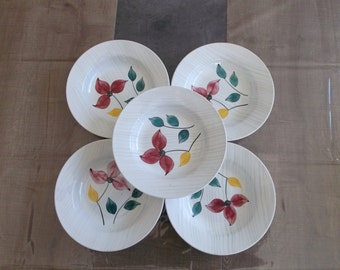 soup Digoin Sarreguemines french antique hand - painted dinner plates