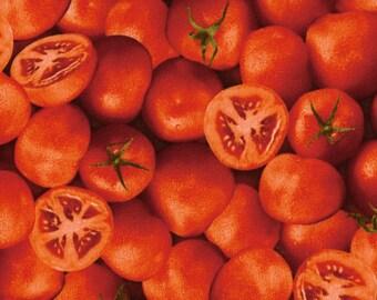 Tomato Red RJR Farmers Market Fabric 1/2 yard