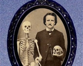 Edgar Allan Poe Necklace Skeleton and Skull Victorian Medical New Gothic Goth