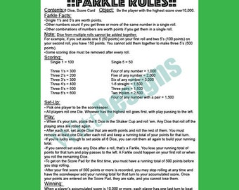 photo relating to Farkle Instructions Printable named Farkle Recommendations Pics - Opposite Look