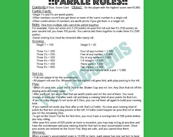 photo about Farkle Rules Printable titled Farkle Laws Visuals - Opposite Seem