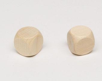 5 Plain dice of width 20mm