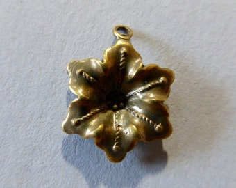Vintage Brass Flower Stampings, Charms - 17x13mm (2)