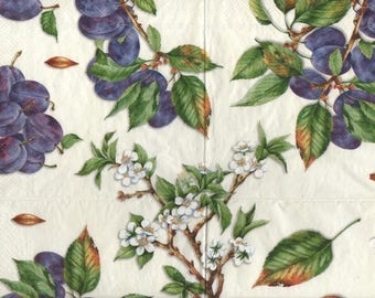 3267 lot 3 paper flowers of plum and prune