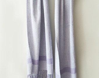 Handwowen linen wrap, summer linen scarf, women scarf, linen wrap, woven linen scarf, purple scarf, woven wrap, summer scarf, lavender scarf