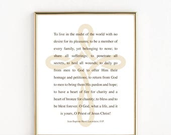 Catholic Priest Gift   Ordination Gift   8x10 Print