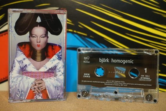 Homogenic (RARE Polish Pressing) by Björk Vintage Cassette Tape