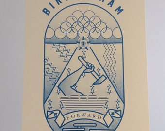 Birmingham Risograph print