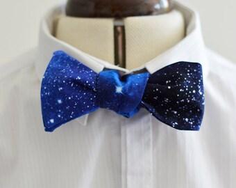 Space Bow tie-Bespoke necktie-Galaxy-Nebula-cosmic