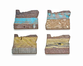 Reclaimed wood magnet - OREGON